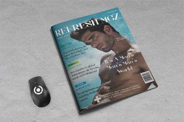 Refresh Men's Lifestyle Design Magazine Template