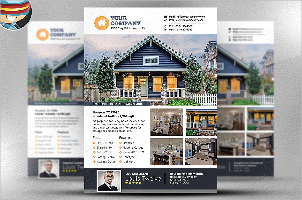 Fully Editable Real Estate Broker Flyer