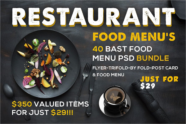 Restaurant Blackboard Menu Templates Bundle