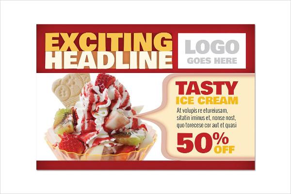 Restaurant Marketing Postcard Template