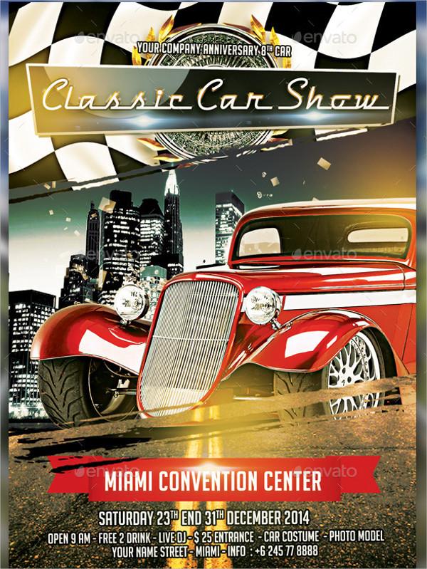 25 car show flyer templates free premium download car show vintage flyer template maxwellsz