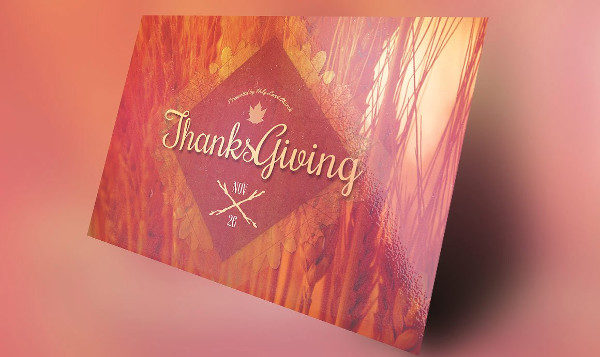 Retro Thanksgiving Flyer Invitation