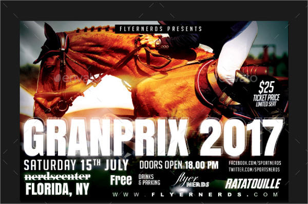 Horse Racing Grand Prix Championships Flyer