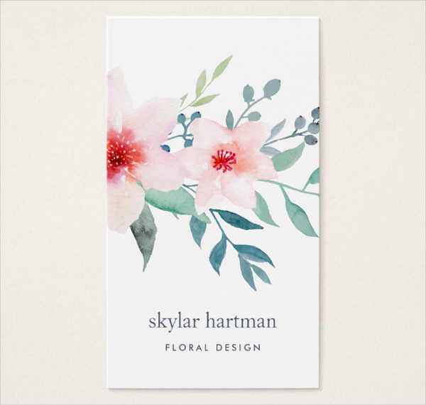 Sage Floral Business Card