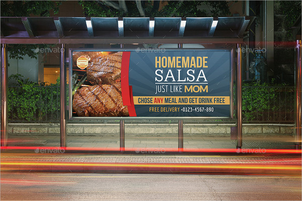 Salsa Restaurant Billboard Template