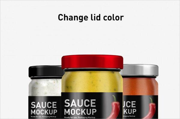 Sauce Jar Mockup PSD Template