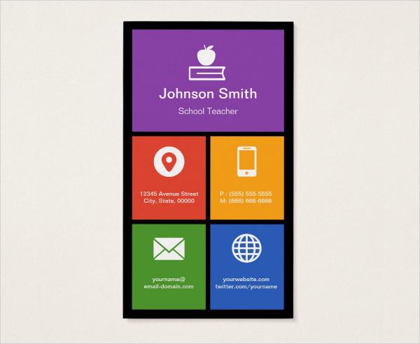 School Teacher Creative Business Card