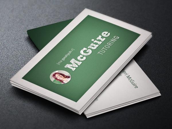 School Tutor Business Card Template