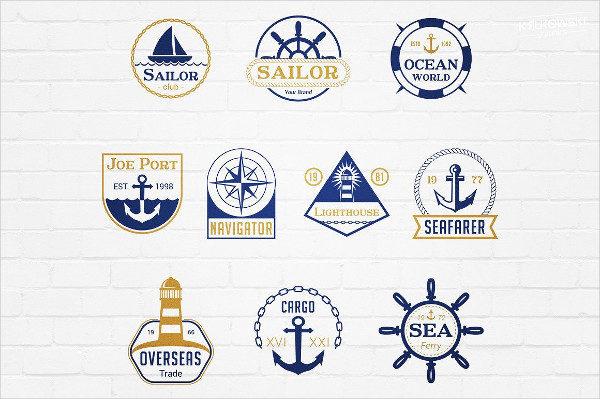 Sea Marine Traditional Badges