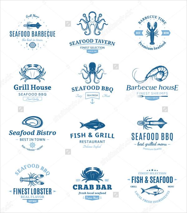 Sea Food Badges Design