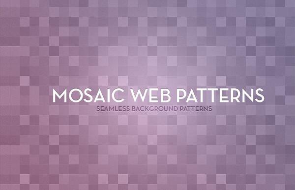 Seamless Mosaic Background Patterns