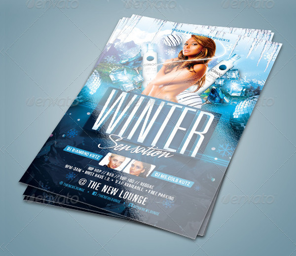 Sensational Winter Party Flyer