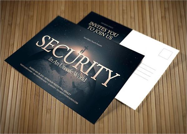 Security Marketing Postcard Template
