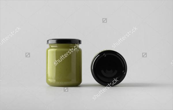 Pumpkin Seed Butter Jar Mock-Up