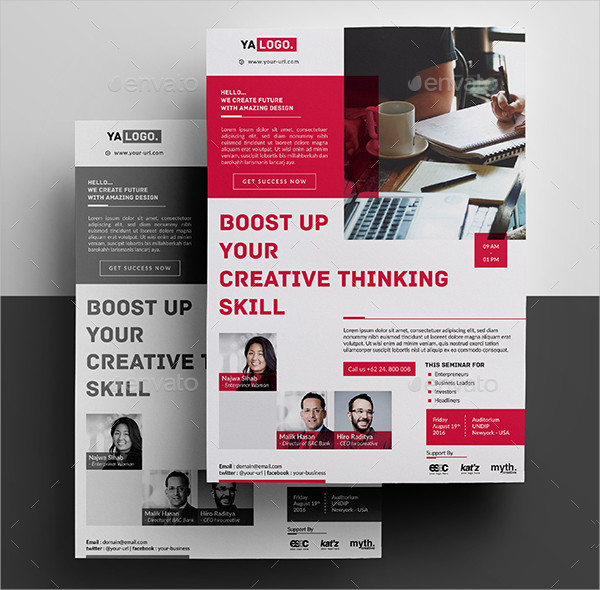 Seminar Business Event Editable Flyer