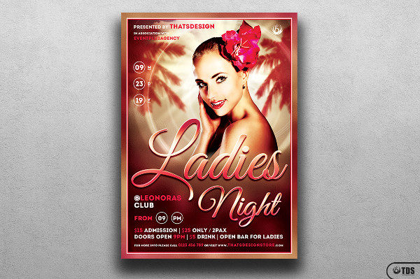 Sensual Ladies Night Flyer Template