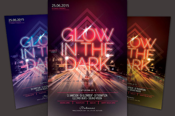 23 Glow Party Flyer Templates Free Premium Download