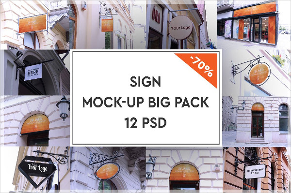 Shop Sign Advertising Mock-Ups Pack