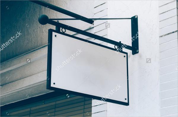 Signboard Vintage Mockup