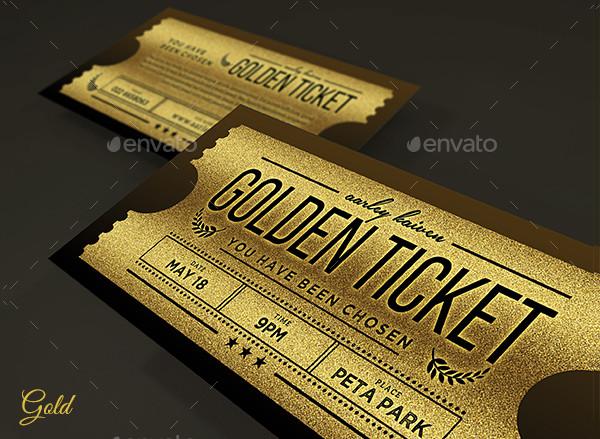 Multipurpose Silver Ticket Invitation Template