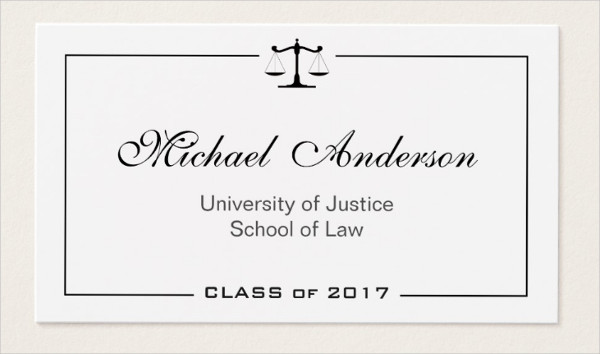 Law School Business Cards