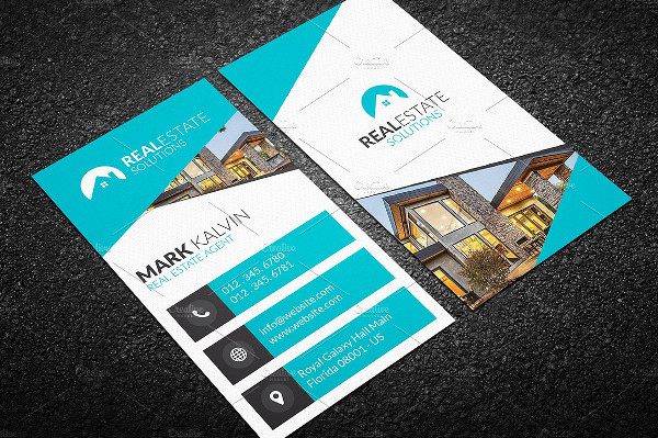 Real Estate Solutions Business Card Template