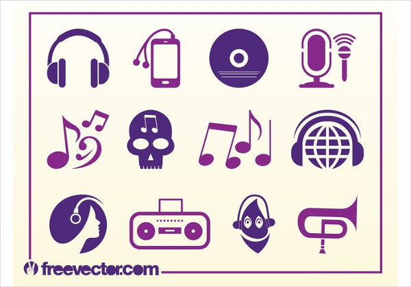 Free Musical Party Icons Vector