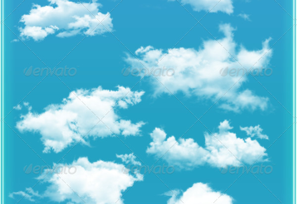 13 Blue Cloud Brush Set