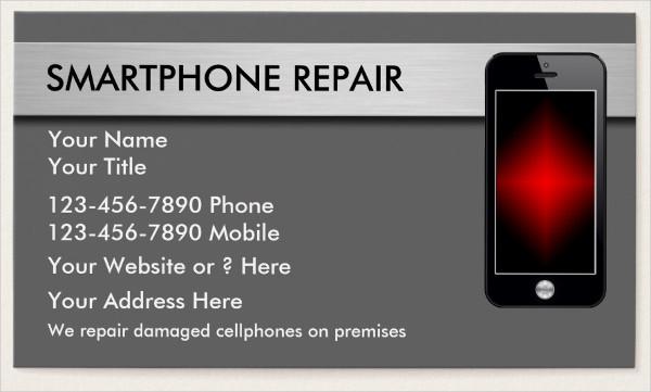 Smart Phone Repair Business Card