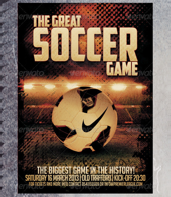 Great Soccer Game Poster