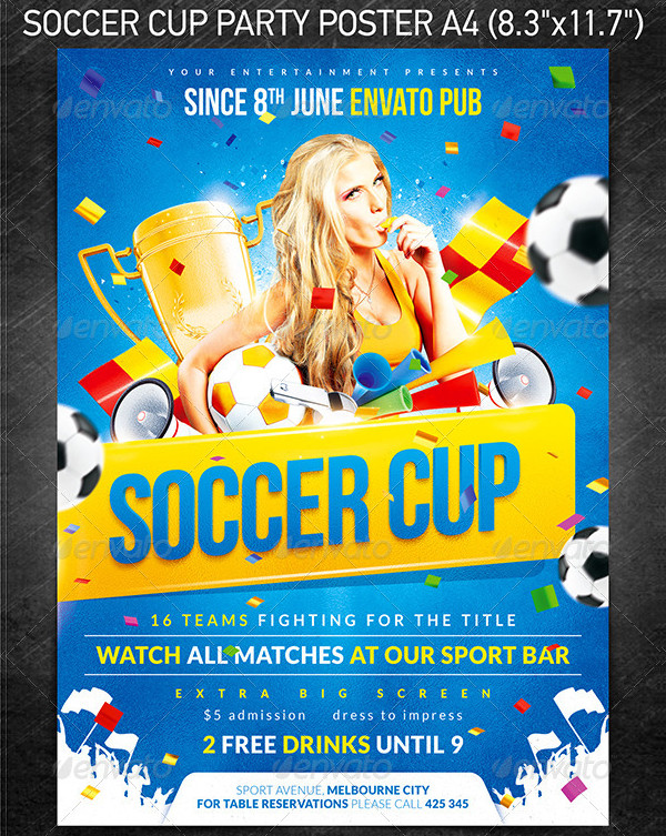 Soccer Cup Party Poster