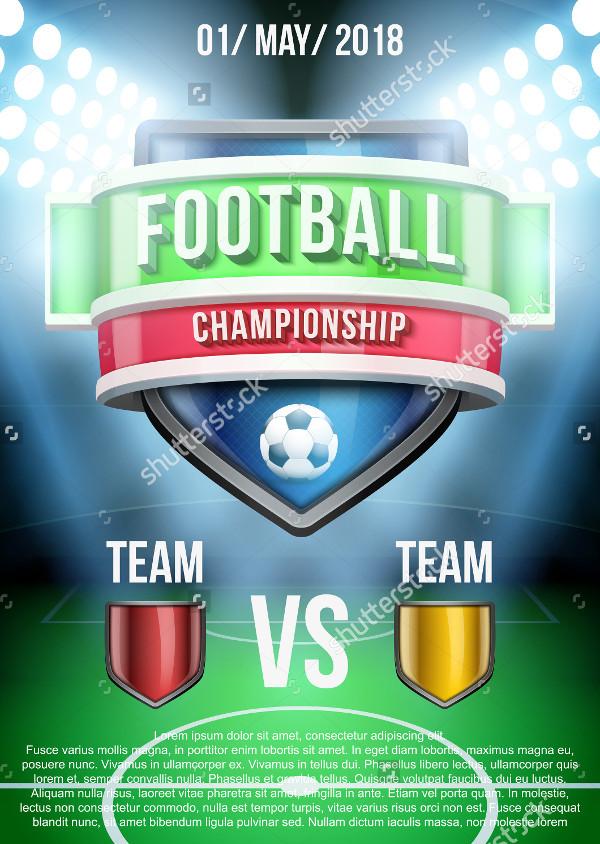 Soccer Stadium Poster Template