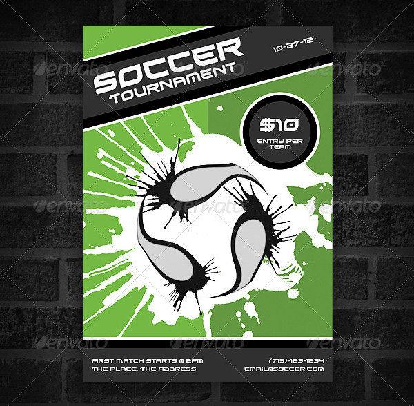 Minimal Soccer Team Poster Design