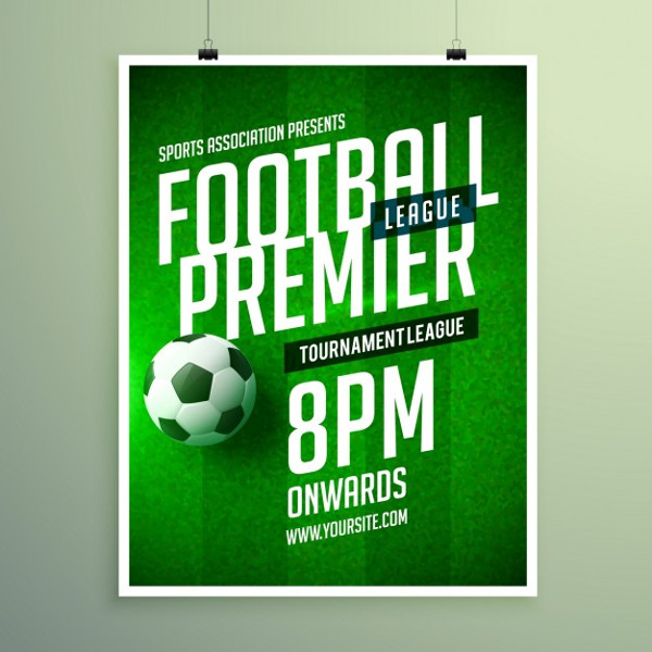 Soccer League Invitation Poster Free