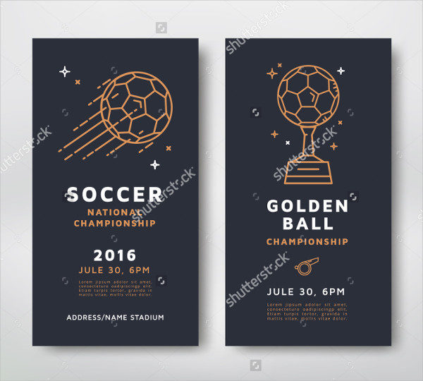 Soccer Championship Posters Design