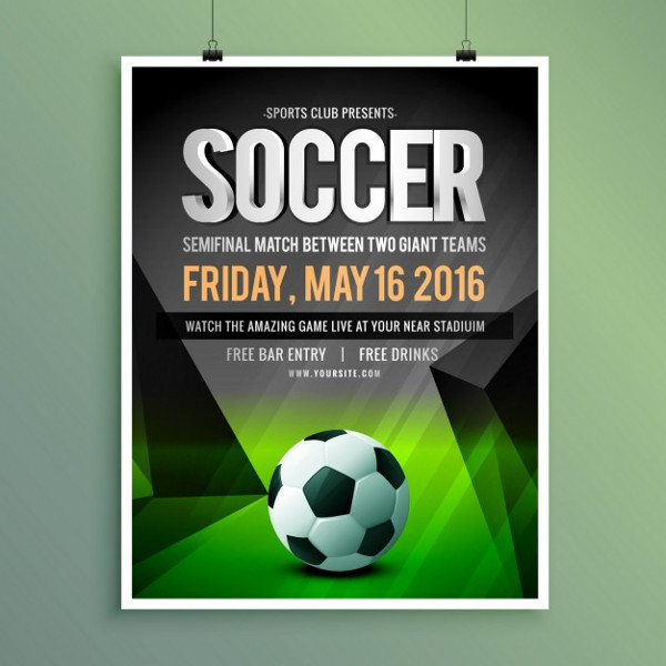 Soccer Semifinal Match Poster Free