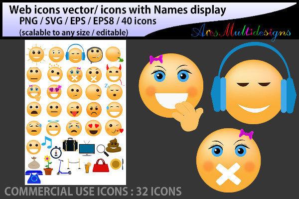 Social Media Emoji Icons