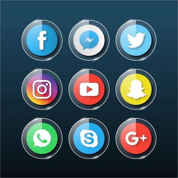 Free Social Media Glass Icons