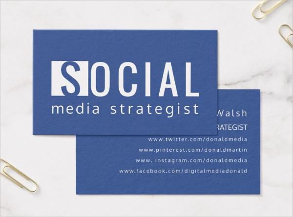 39 social media business card templates free premium. Black Bedroom Furniture Sets. Home Design Ideas