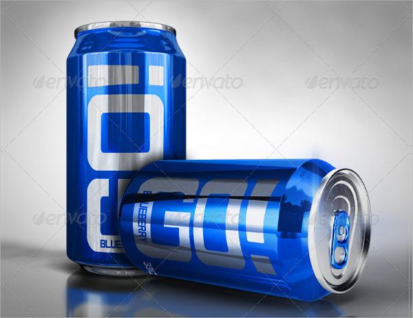 Soda Can Design Mockup