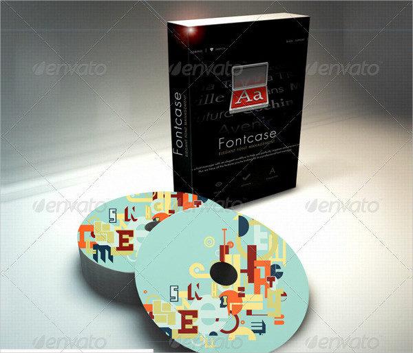 Software Box & CD Mockup