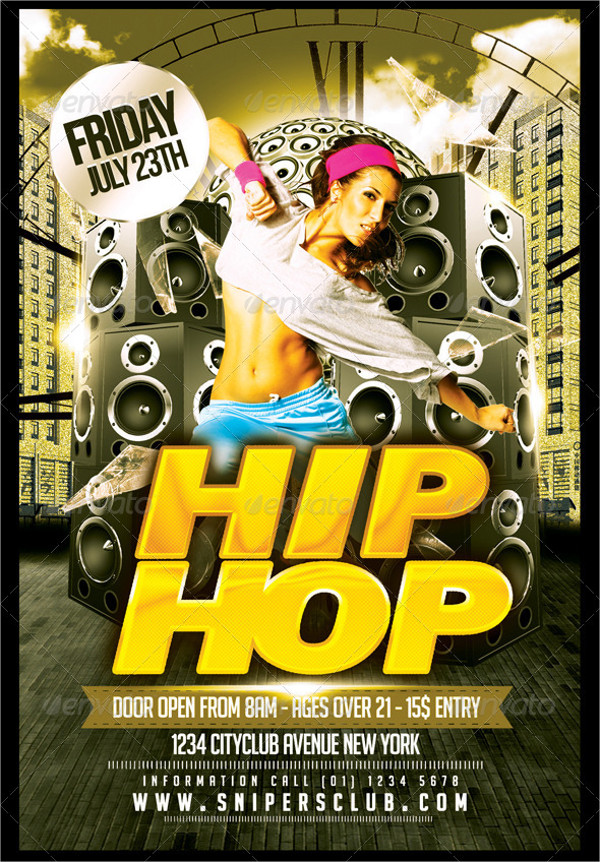 Hip Hop Club Flyer Template