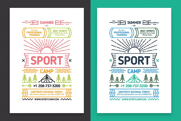 Sport Camp Poster Template