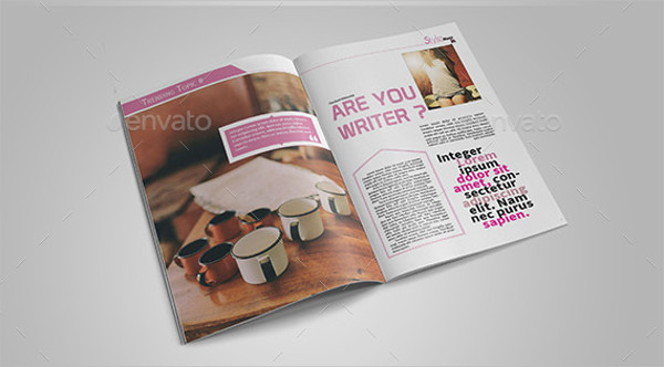 Colorful Lifestyle Magazine Template