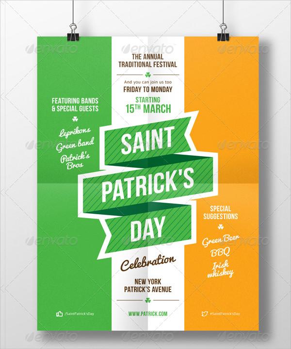 St. Patrick's Party Celebration Poster