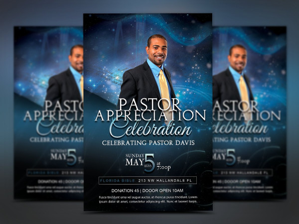Starlight Pastor Anniversary Event Flyer Template