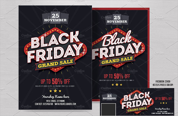 Black Friday Grand Sale Flyer Template