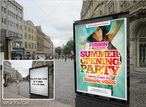 Street Advertising Graphics Mockup