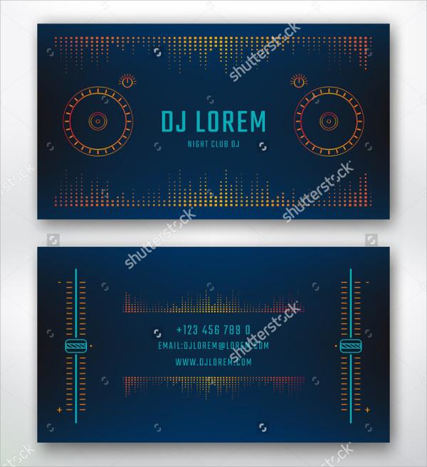 Perfect DJ Studio Business Card Template