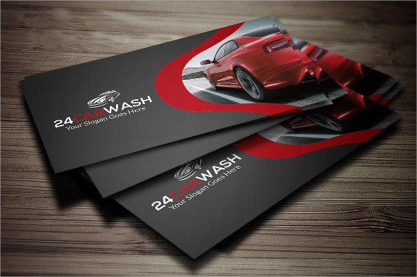 stylish car wash business card template - Car Detailing Business Cards